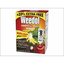 Weedol Rootkill Plus 6 Tubes + 2 Free of Charge