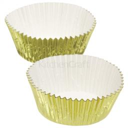 Cupcake Cases Gold Foil