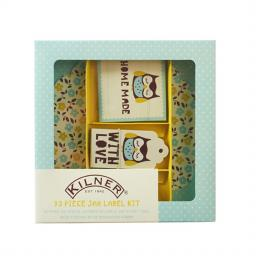 Kilner Label Set Owl