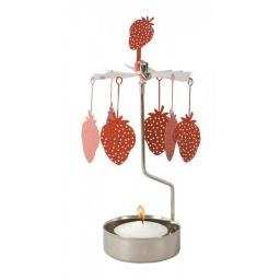 Rotary Strawberry Carousel Candle Holder
