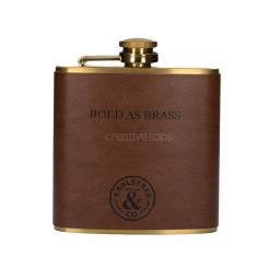 Hip Flask Bold As Brass