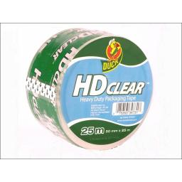 Duck H/D Packaging Tape Clear 50Mmx25M