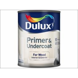 Dulux Qd Wood Primer/Undercoat 750Ml