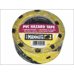 Everbld Mammoth Hazard Tape Blk/Yell 50Mmx33M N