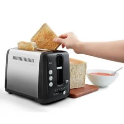 Beko Tam7201B 2 Slice Toaster In Black And Stainless
