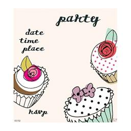 Caroline Gardner Cupcake Party Invitations