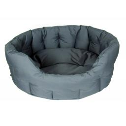 Dog Bed Waterproof Oval Grey