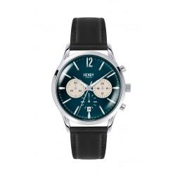 Watch Henry London Blue With Black Strap