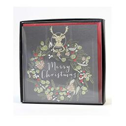Christmas Card Boxed Merry Christmas Belly Button Design