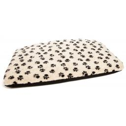 Dog Bed Duvet Paw Print Beige