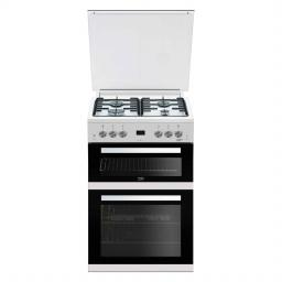Beko Edg6L33W 60Cm Double Oven Gas Cooker