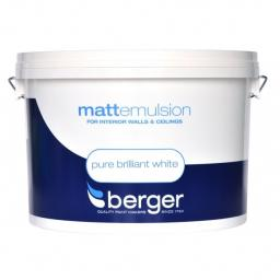 Berger Matt Emulsion Pure Brilliant White 10L