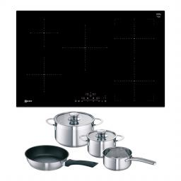 Neff T48FD23X0KIT 80cm Frameless Induction Hob - Black - Includes Free Pan Set T48FD23X0KIT
