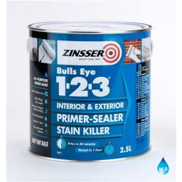 Zinsser Bulls Eye 1-2-3 Primer & Sealer Grey