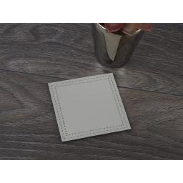 Creative Tops Bonded Leather Coasters Grey
