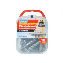 Metal Self Drive Fix + Screws x 10 MSDF256
