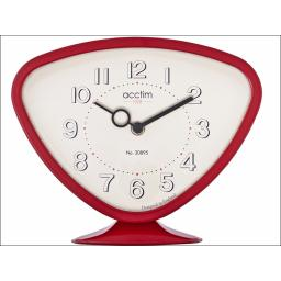 Acctim Putney Table Clock Red