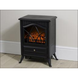 Daewoo Stove Effect Heater Black