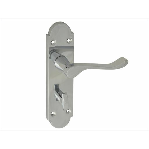 Backplate Bathroom Handles Gable Chrome