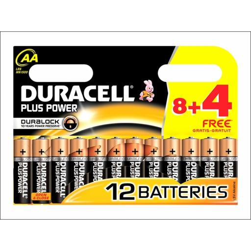 Duracel Mn1500B8+4 Plus Power Batt Aa 8+4 Wp