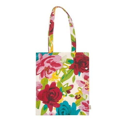 Caroline Gardner Painted Floral Shopping Bag
