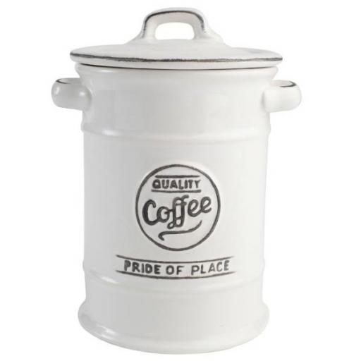 Pride Of Place Coffee Canister White