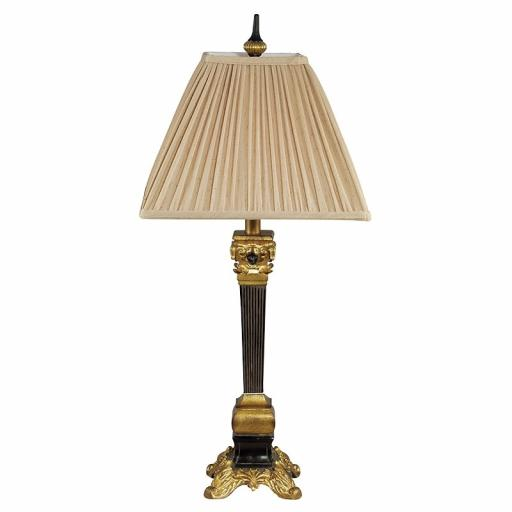 Edwardian Black & Gold Lamp
