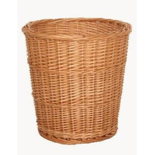 Round Wicker Waste Paper Basket Bin Storage Bedroom Bathroom Office Lounge
