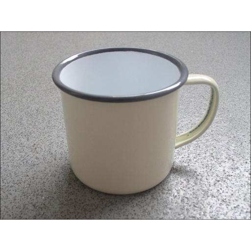 Falcon 550018C Enamel Mug Cntry.Cream 8Cm