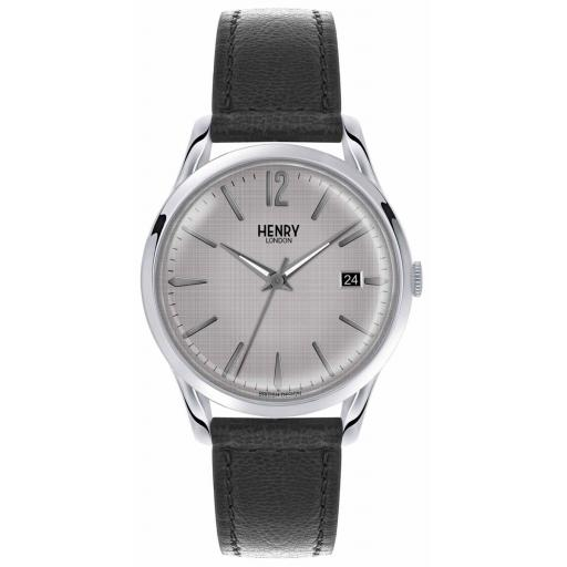Watch Henry London Grey Dial Black Strap