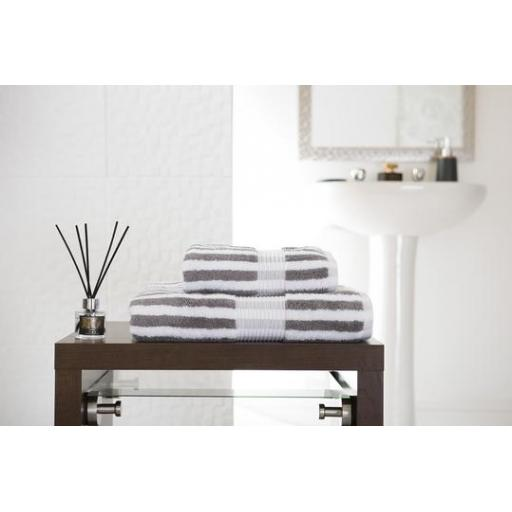 Bliss Stripe Slate Hand Towel