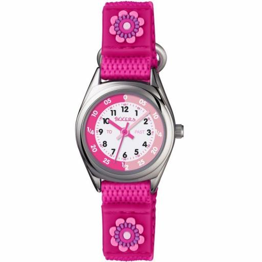 Watch Tikkers Flower Pink Velcro Strap