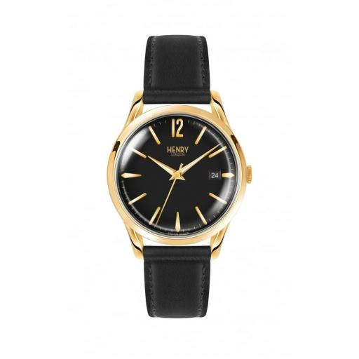 Watch Henry London Black With Black Strap