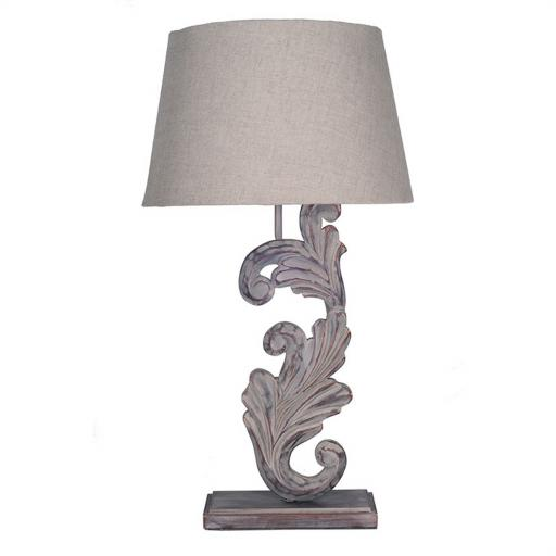 Lamp Grey/Whiter Wash Wooden