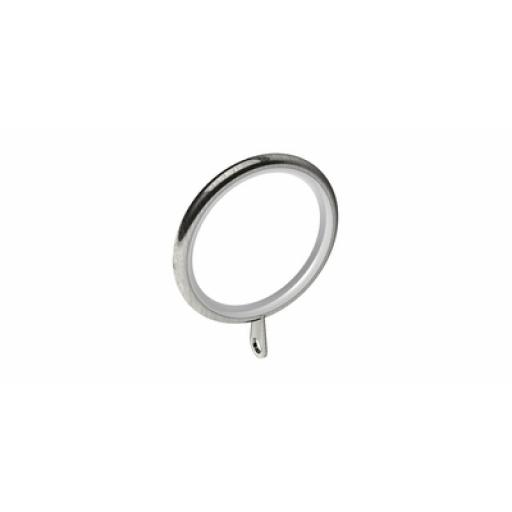 Swish Lined Rings Satin Steel