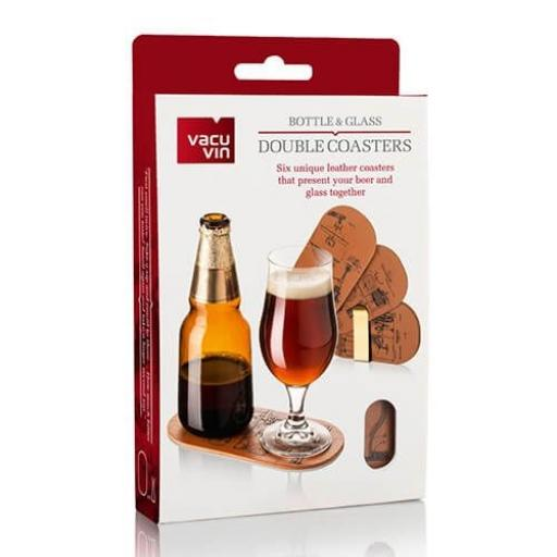 Vacu Vin Bottle & Glass Double Coasters