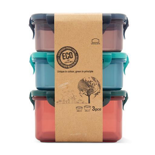 Eco Rectangular Set x 3 Food Storage