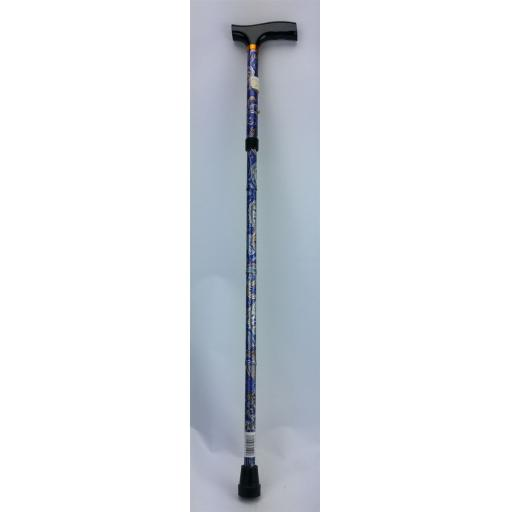 Cane Folding Dark Blue Floral