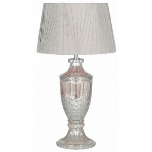 Lamp Urn Smoke Grey Glass