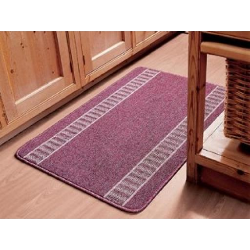Dandy Athena Washable Mat Red 80X50Cm