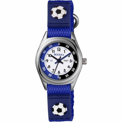 Watch Tikkers Football Blue Velcro Strap