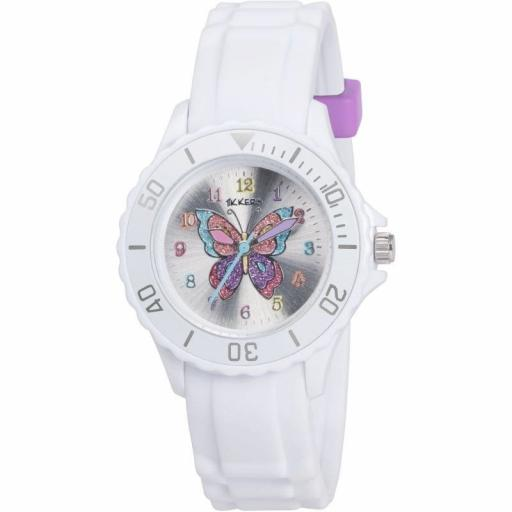 Watch Tikkers Girls White Butterfly