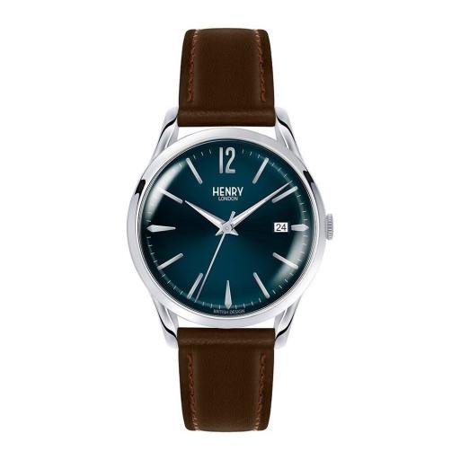 Watch Henry London Blue With Brown Strap