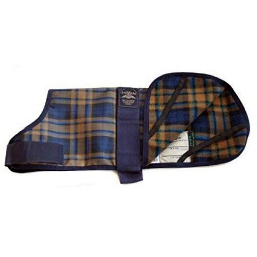 Animate Camel Watch Tartan Waterproof Dog Coat 12""
