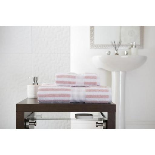 Bliss Stripe Pink Bath Sheet