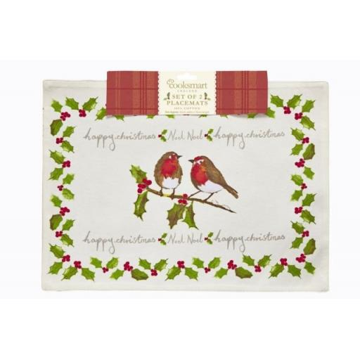 Christmas Garden Placemats Set Of 2