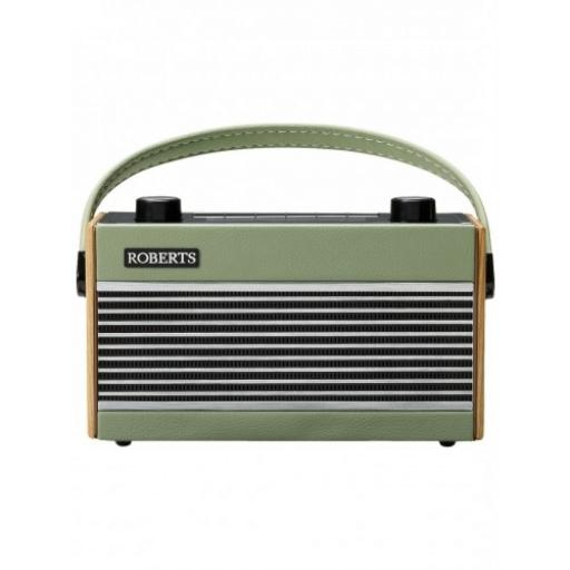 Roberts Rambler Portable Vintage/Retro Digital Radio with DAB/DAB+/FM RDS Wavebands - Green