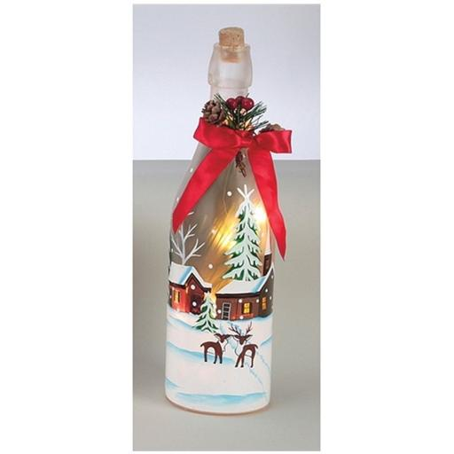 Premier Light Up Bottle Houses 29cm