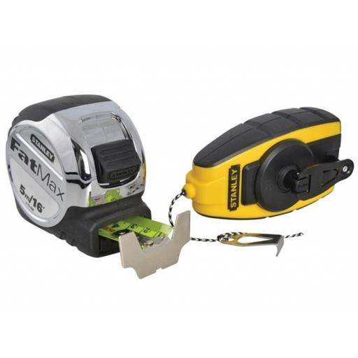 Stanley Tape Measure Fat Max + Free Chalk Line