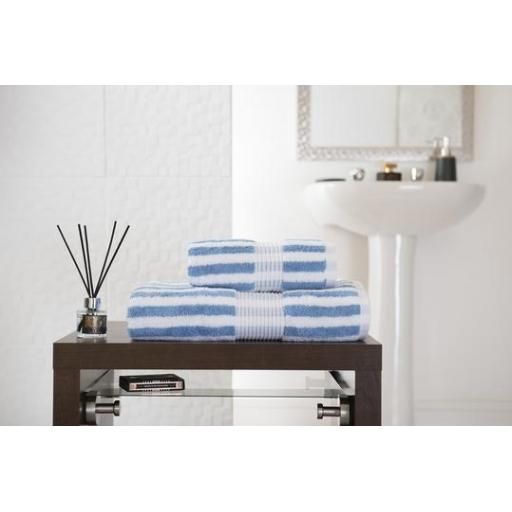 Bliss Stripe Cobalt Bath Towel